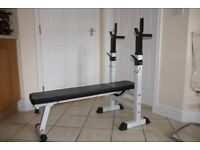 Weights bench / sit ups bench with dipping station handles - home gym bench press