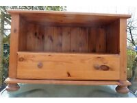Pine Television Cabinet with draw