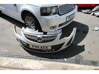 Vauxhall Corsa D Facelift Front Bumper, With Fog Lights, Grills & Bumper Strip No Damage/Scratches
