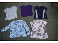 Bundle/Joblot of 5 Womans Tops (mostly M&S) Used Condition, Sizes are 10-12