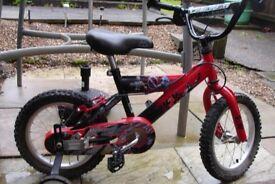 boys power rangers bike with stabilizers