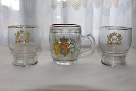 Queen Elizabeth II Coronation Glassware