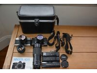 Minolta cameras and lenses