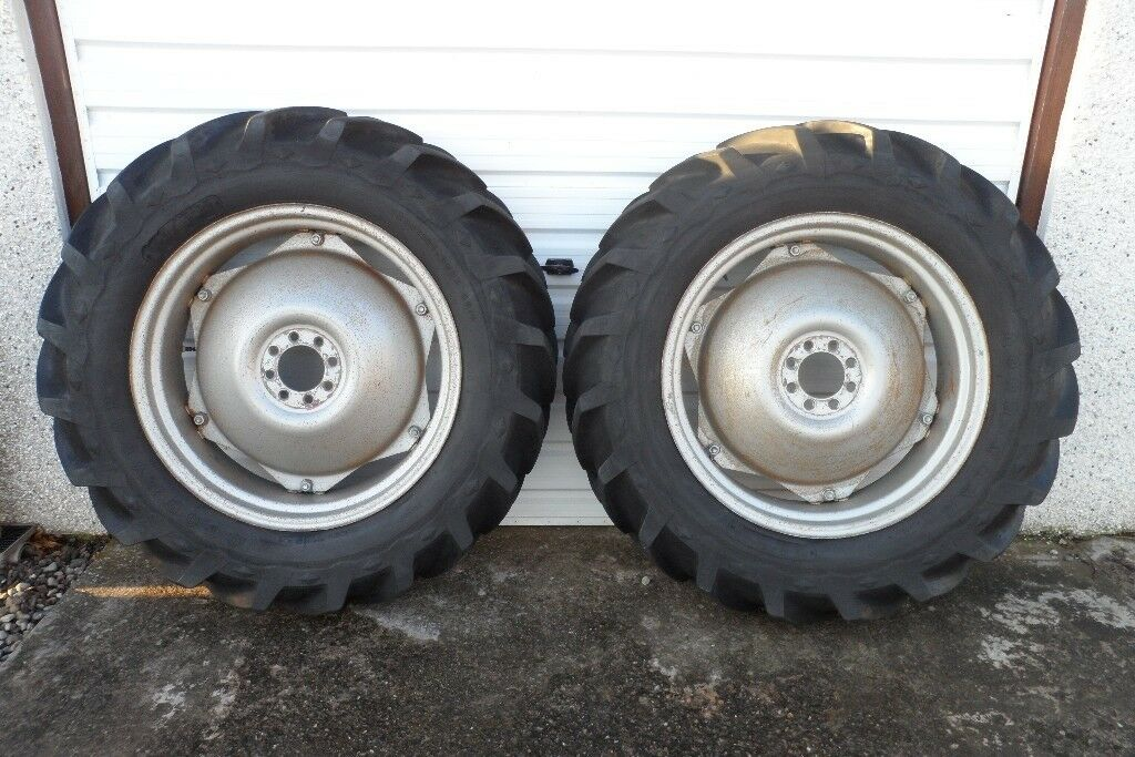 "Massey Ferguson 35 or 135 Tractor, 28"" Rear Wheels With Good Year Tyres"