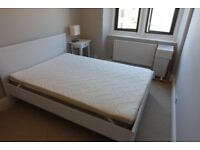 Double Bed PACKAGE DEAL: Bed Frame, Mattress, Memory Foam Mattress Cover, Duvet and Sheets!