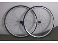 Spa Cycles 11 speed road bike wheelset, Michelin Pro4 Endurance tyres, Exal LX17 rims
