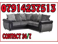 THIS WEEK SPECIAL OFFER SOFA BRAND NEW BLACK & GREY OR BROWN & BEIGE HELIX SOFA SET 5464