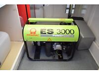 Pramac ES3000 petrol generator. 2.9 KVA with Honda gx160 engine. Hardly used.