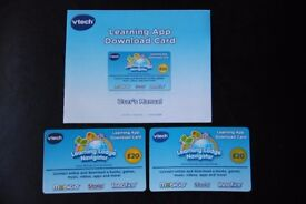 VTech Learning App Download Cards for Innotab, Mobigo and Storio