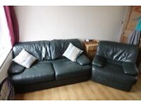 Green Couch and Single Seater - GOOD CONDITION