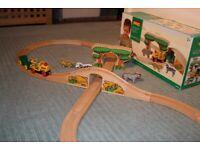 Wooden safari figure 8 train set