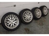 "FOX 15"" 4X108 ALLOY WHEELS CITREON FORD PEUGEOT BARGAIN CLEARANCE RRP £350+"