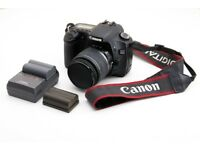DSLR Canon 30D with 18-55 lens and two batteries