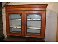 PAINTED PINE DISPLAY CABINET