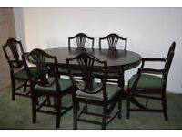 6 seater dining suite and coffee table