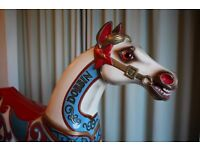 Hand Carved and Hand Painted Wooden Rocking Horse