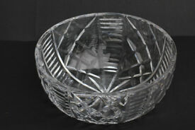Beautiful Vintage Hand Cut Crystal Bowl Tudor Crystal Fruit Bowl Dish Cristal 8 Inches Across