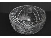 Beautiful Vintage Hand Cut Crystal Bowl Tudor Crystal Fruit Bowl Dish Cristal 8 Inches Across