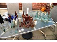 Glass & Earthenware Pots & bottles gobstopper & rounded bottom bottles ETC