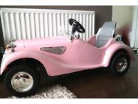 Pink Classic Kids Electric Cars-6 volt