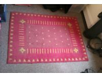 Red and Yellow NEXT Rug - 120 x 168 cm - great condition