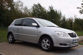 2002 Toyota Corolla 1.6 VVT-i T3 3dr AUTOMATIC, LOW MILES, SERVICE HISTORY, WARRANTY, PX WELCOME