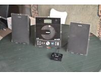 Phillips CD player with I pod dock.