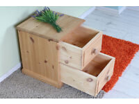 SMALL 2 DRAWER CHEST/BEDSIDE TABLE - CAN COURIER - FREE LOCAL DELIVERY