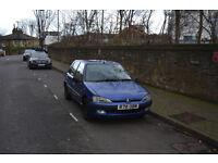 Blue Peugeot 106 1.1, 6 months MOT, £300