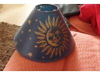 Navy blue moon & sars lampshade