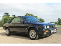 BMW E30 Convertible 1990 blue 320i amazing condition low milage classic