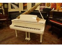 New white baby grand piano with FREE UK delivery and matching adjustable stool