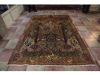 Full Room Size Garden Of Eden Design Persian Kashmar Rug Carpet 295x200 cm
