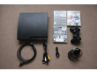 160GB PS3 Bundle - Leads, Games + Controller