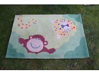 children small rug with animals 115cm/78cm