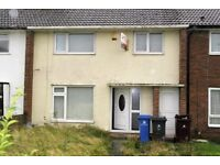 20 Byron Close, Huyton, Liverpool. 3 bed mid terrace with GCH, DG, rear garden. LHA welcome