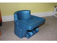Blue Cushi Tush Baby Seat, better than a Bumbo