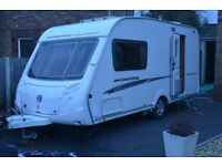 SWIFT COASTLINE 480 (SPECIAL EDITION) 2 BERTH CARAVAN 2007 WITH FULL AWNING AND REMOTE MOTOR MOVER