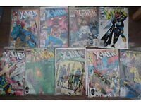 9 MARVEL X-MEN COMICS UNCANNY XMEN WOLVERINE LONGSHOT PROF X SEE PHOTOS