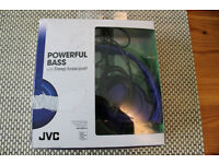JVC HAS180A Foldable Powerful Deep Bass Headphones New