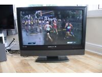 """Hanspree 37"""" Flat screen TV, HDMI & Picture in Picture with remote control"""