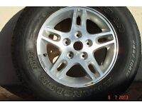 Goodyear Wrangler HP Radial Tubeless 5 stud wheel and tyre FREE YES FREE 245/70R16