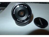 Olympus M.Zuiko Digital 17mm F/1.8 Camera Lens