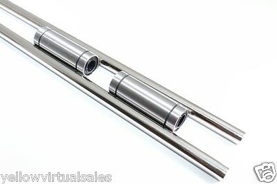 2 X 10mm 16-12 Hardened Shafts 2 Lm10luu Rod Rail Long Linear Bearing Motion