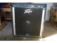 Peavey 160 bass guitar amp(black widow speaker)