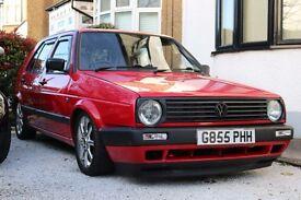VW Mk2 Golf 1.3 Tornado Red