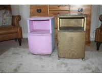 2 (Odd Pair) Vintage/Antique LLOYD LOOM Bedside Cabinets,Chests,Cupboard,Shabby Chic/Upcycle