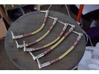 "Fender Custom Shop 6"" Patch Cable - Tweed - Bundle of 5"