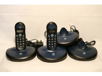 Telcom 810 Cordless Phones. 4 Bases, 4 Chargers, 2 Handsets