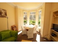 Large bright 2/3 double Bedroom flat in Morningside. Private gardens, quiet and perfect location